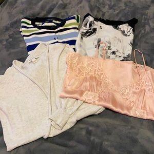 BANANA REPUBLIC 4 piece Women's top grab bag